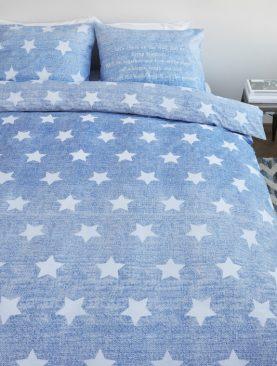 Lenjerie pat albastra Starry Sky 200x200/220 cm