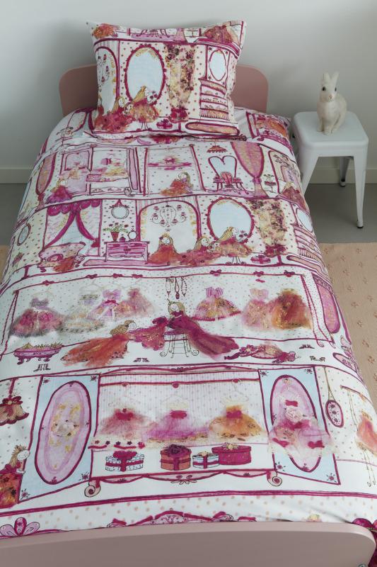 Lenjerie pat fetite roz printese