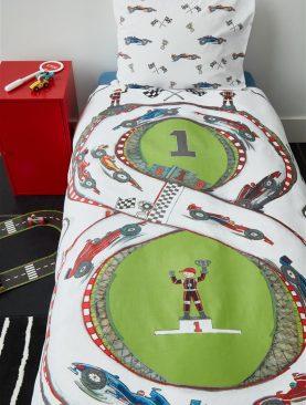 Lenjerie pat formula 1 Race Track 200x200/220 cm
