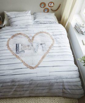 Lenjerie pat love inima Lovewood 200x200/200 cm