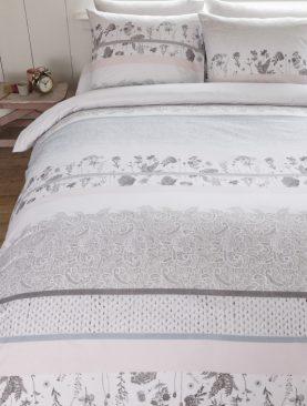 Lenjerie pat provence florala Pale Pastel 200x200/220 cm