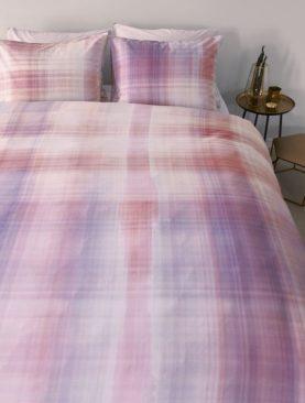 Lenjerie roz pat dormitor Curacao Corail 200x200/220 cm