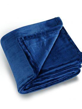 Patura albastra pufoasa 5047 Cocoon 130x180 cm