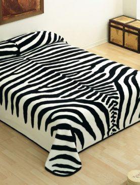 Cuvertura animal print zebra alb negru 5121 220x240 cm