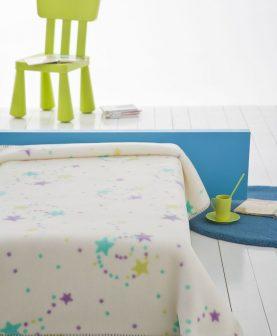 Patura bebelusi stelute colorate 110x140 cm 6361