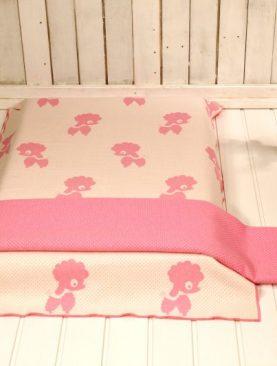Patura bumbac roz fetite pudel 2204 110x140 cm