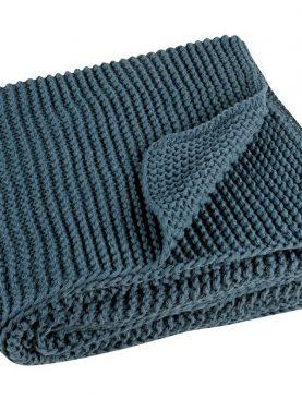 Patura crosetata albastru inchis 5090 Kinoa 130x160 cm