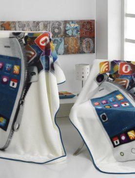 Patura cuvertura Iphone telefon 130x170 cm A89