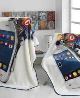 Patura cuvertura Iphone telefon A89 130x170 cm