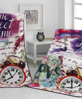 Patura fetite colorata Home Sweet A91 130x170 cm