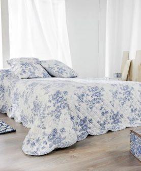 cuverturi pentru pat flori albastre