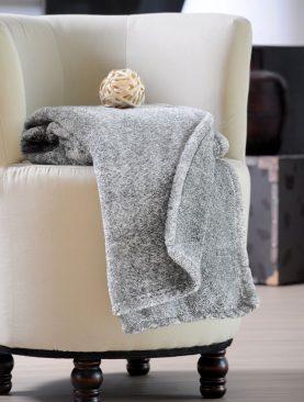 Patura gri pufoasa lână imitație Sweetness 130x160 cm