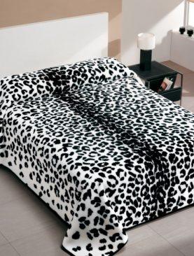 Cuvertura leopard alb negru 5077 220x240 cm