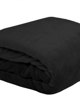 Patura neagra pufoasa Doudou 5792 130x160 cm