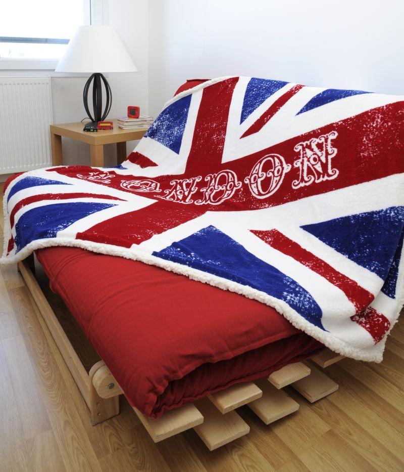 Patura pufoasa London steag UK Newcastle 130×160 cm (Franta)