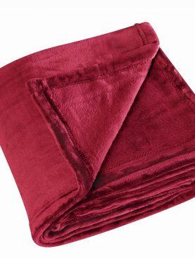 Patura rosie pufoasa 5047 Cocoon 130X180 cm