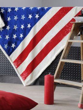 Patura steag America (cod Basket) 130x160 cm