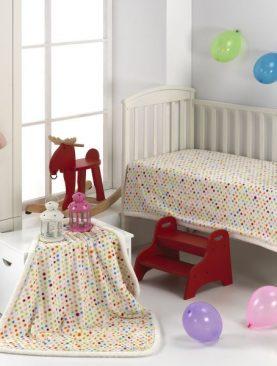 Paturica buline colorate copii 211 Globos 110x140 cm