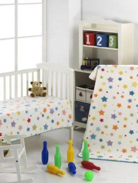 Paturica copii stelute colorate 222 110x140 cm
