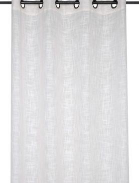 Perdea alba confectionata Ontario Blanc 135x260 cm