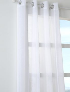 Perdea alba confectionata Paloma Blanc 140x260 cm