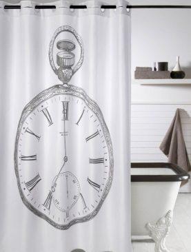 Perdea baie alba Clock 219 180x200 cm