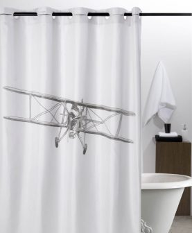 Perdea baie alba avion Airplane 217 180x200 cm