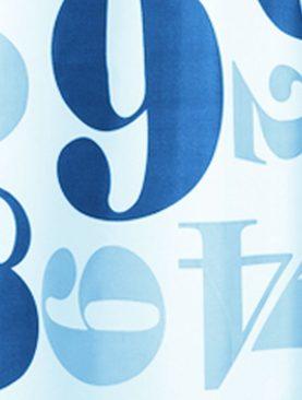 Perdea baie albastra Chicago 180x200 cm