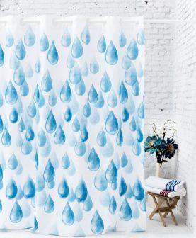 Perdea baie albastra picaturi 236 180x200 cm (Spania)