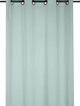 Perdea bumbac turcoaz deschis Aube Eucalyptus 140x260 cm