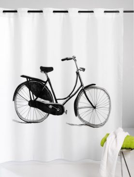 Perdea dus alba retro Bicycle 216 180x200 cm