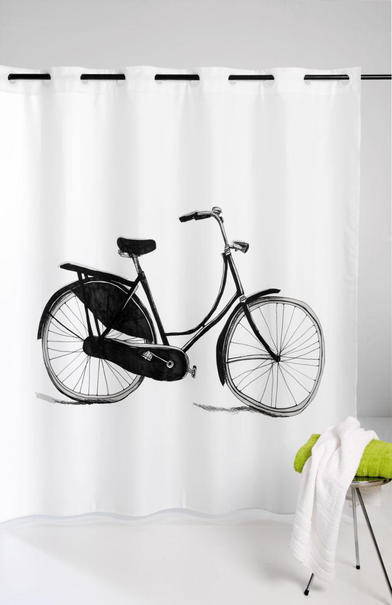 Perdea dus alba retro Bicycle 216 180×200 cm (Spania)