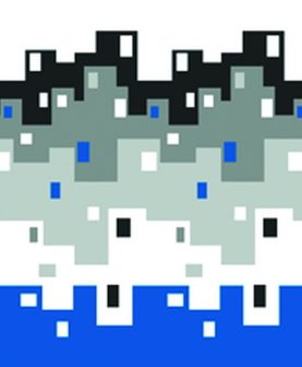 Perdea dus  albastra City 180x200 cm (Spania)