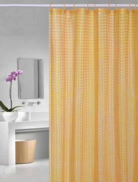 Perdea dus portocalie transparenta Bubbles 107 180x200 cm