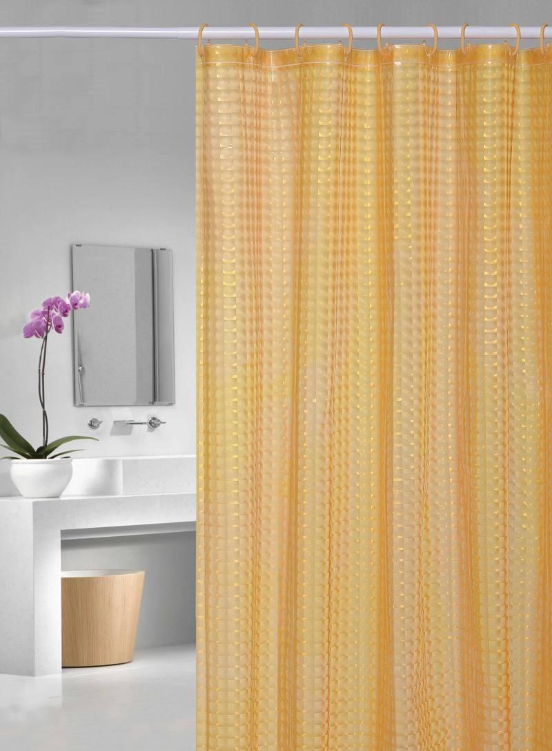 Perdea dus portocalie transparenta Bubbles 107 180×200 cm (Spania)