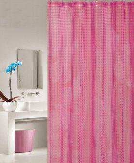 perdea baie roz