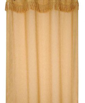 Perdea galben inchis franjuri Demetria Moutarde 140x260 cm