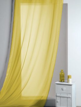 Perdea galbena confectionata Lisa Jaune 135x260 cm