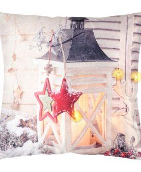 Perna Craciun decorativa cu LED Jinglebells 45x45 cm