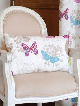 Perna alba fluturi colorati Butterfly 4588 30x50 cm