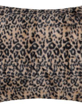 Perna animal print Leopard Jangal Fauve 45x45 cm