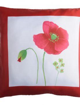 Perna canapea mac rosu Narciso1 40x40 cm