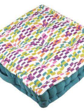 Perna colorata podea Jacara Multicolor 45x45x10 cm