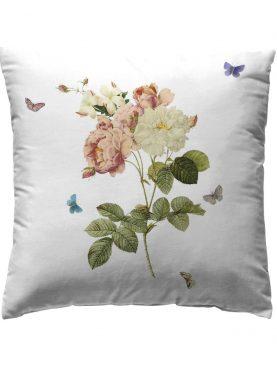 Perna deco floare colorata Loneta Tualum Original 40x40 cm
