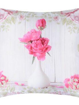 Perna deco flori vaza Capeline Blanc 40x40 cm