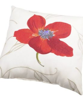 Perna decorativa bumbac mac rosu Appoline 40x40 cm