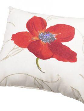 Perna decorativa bumbac mac rosu 6929 Appoline 40x40 cm