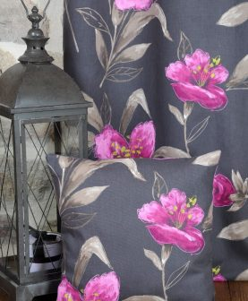 Perna decorativa flori mov bumbac Lancaster 50x50 cm (Franta)