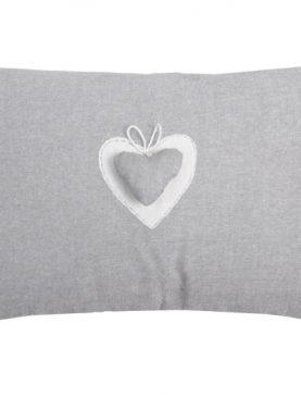 Perna decorativa gri inima 1717 Joliesse2 30x50 cm