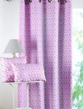 Perna decorativa roz bumbac fluturi Claude 30x50 cm